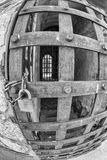 Yuma Territorial Prison, porta da pilha imagem de stock