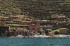 Yumani em Isla del Sol no lago Titicaca, Bolívia Imagem de Stock Royalty Free