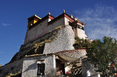 Yumbulagangpaleis in Tibet stock foto