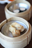 Yumcha , dim sum in bamboo steamer Royalty Free Stock Photo