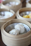 Yumcha , dim sum in bamboo steamer Royalty Free Stock Image