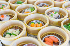 Yumcha or Dim sum, Chinese cuisine style steam food Royalty Free Stock Image