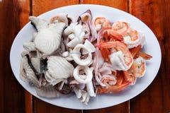 Yummy θαλασσινά ατμού Στοκ Φωτογραφίες