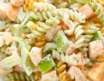 Yummy υγιής σαλάτα ζυμαρικών Στοκ Φωτογραφίες