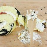 Yummy крен варенья голубики Стоковая Фотография RF