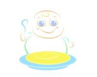 Yummy младенец Бесплатная Иллюстрация
