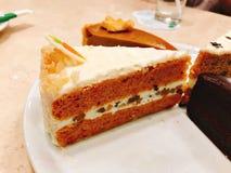 Yummy торт моркови стоковые изображения