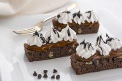 Yummy торт пирожного шоколада Темнота, какао стоковые изображения rf