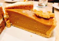 Yummy торт тыквы стоковые фотографии rf