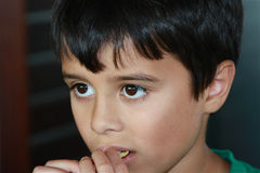 Yummy!. Cute Child Eating a Cookie Stock Image