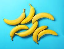 Yummy bananas on  background Stock Photos