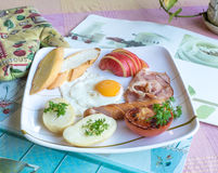 Yummy Big Breakfast Royalty Free Stock Photography