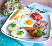 Yummy Big Breakfast Stock Photos