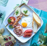 Yummy Big Breakfast Royalty Free Stock Photos