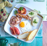 Yummy Big Breakfast Royalty Free Stock Images
