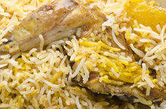 Yummy biryani with salad and rita Royalty Free Stock Photo