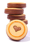 Yummy!!! Biscotti su priorità bassa bianca Immagine Stock Libera da Diritti
