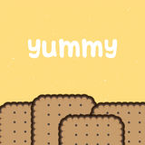 Yummy Biskuithintergrund Stockbilder