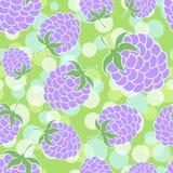 Yummy blackberries seamless background Royalty Free Stock Photo