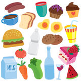 Yummy breakfast clip art Royalty Free Stock Photos