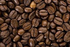 Yummy Bruine Koffie Bean Backgrounds royalty-vrije stock fotografie
