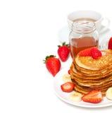 Yummy Buttermilk Pancakes Royalty Free Stock Photos