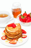 Yummy buttermilk pancakes Royalty Free Stock Images