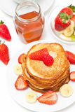 Yummy buttermilk pancakes Stock Image