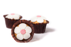Flower Shaped Cakes Stock Image