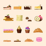 Yummy candy shop confectionery bakery product fron Royalty Free Stock Image