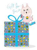 Yummy Cat Gift For You Royalty Free Stock Photos