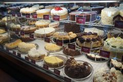 Yummy Cheese Cakes!. Display of yummy cheese cake Stock Photos