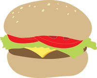 Yummy Cheeseburger Royalty Free Stock Photo