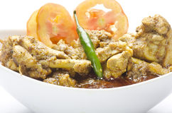Yummy chicken curry with salad Royalty Free Stock Photos