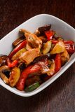 Yummy chicken with vegetables royalty free stock photography