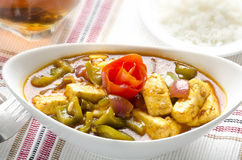 Yummy chilli paneer with rice and cold drinks. Chilli paneer  with rice and cold drinks Royalty Free Stock Photography