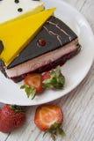 Yummy choco cakes with strawberry Royalty Free Stock Photos