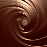 Yummy choco swirl Stock Photo