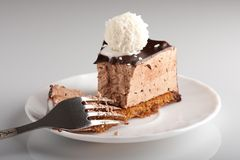 Yummy chocoladecake Royalty-vrije Stock Foto's