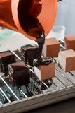 Yummy chocoladestroop stock afbeelding