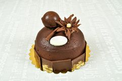 Yummy chocolate cake. Prepared for special occasions, delicious and beautiful chocolate cake Stock Images