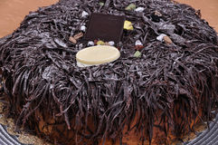Yummy chocolate cake. Prepared for special occasions, delicious and beautiful cake Royalty Free Stock Photos