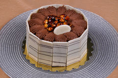 Yummy chocolate cake. Prepared for special occasions, delicious and beautiful chocolate cake Stock Photos