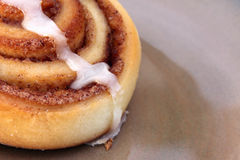 Yummy Cinnamon Bun Stock Image