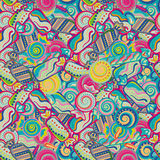 Yummy colorful sweet lollipop candy cane seamless pattern Royalty Free Stock Image
