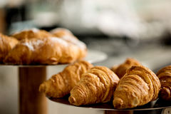 Yummy! croissant bread on close up Stock Images