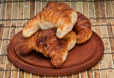 Yummy croissants close up Stock Photography
