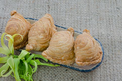 Yummy curry puff Royalty Free Stock Photos