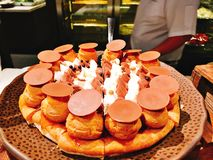Yummy Deens brood in buffet van het hotel royalty-vrije stock afbeeldingen