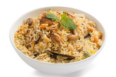 Yummy delicious chicken biryani Stock Images